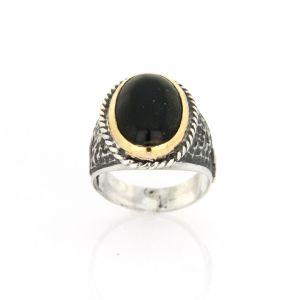Progetto Fede Base Pietra Onix Black Men's Ring accessories