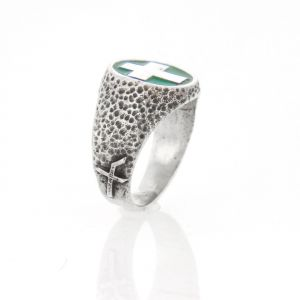Progetto Fede Total Silver Faith Resin paint Men's Ring accessories