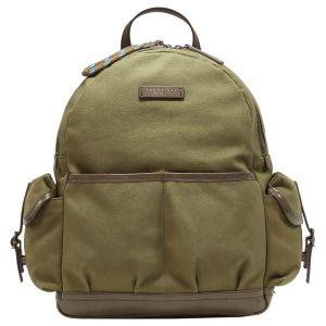The Bridge Leonardo Backpack with Side Pockets Fabric Green Leather 0638010M-8O