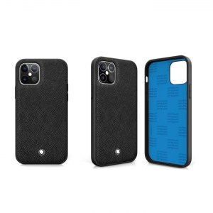 Montblanc Sartorial HardPhone Case Black Cover Apple iPhone 12 & 12 Pro 128650 New Collection 2020 2021