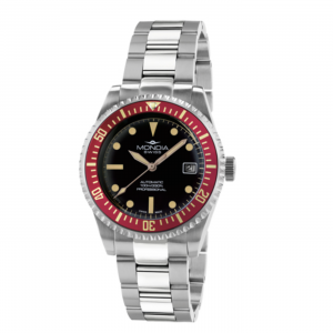 Watch Mondia Swiss Icon Automatic Diver MS-221-SSRD-BK-OY Vintage Red bezel 40mm