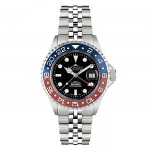 Watch Mondia Swiss Icon Automatic Diver MS-214-SRDBL-BK-GB Pepsi bezel 43mm Blue Red
