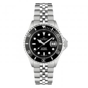 Watch Mondia Swiss Icon Automatic Diver MS-216-SSBK-BK-GB Black bezel 40 Jubilee Strapmm jubilee strap Man