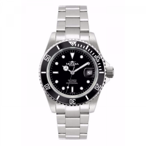 Watch Mondia Swiss Icon Automatic Diver MS-216-SSBK-BK-OY Black bezel 40mm Oyster Strap Man