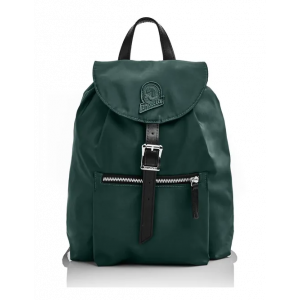 Invicta Zaino Mini Alpino Nylon Verde Dettagli Cuoio Icon Collection
