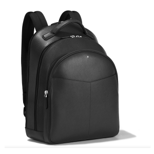Montblanc Sartorial Medium Backpack 3 Compartments Black Leather 128546 Business man woman Luxury