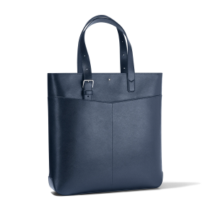 Montblanc Sartorial Vertical Tote Bag Leather Blue 128553 Shopper man woman Luxury Icon Cool