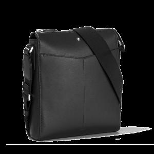 Montblanc Sartorial Envelope Bag Tracolla Small Pelle Nera 128566  uomo donna organizzazione viaggio travel elegante pratica