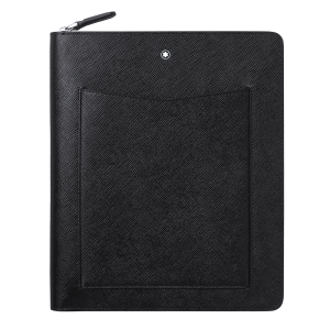 Montblanc Sartorial  Notebook Holder Black Leather with Zip closing 128662 Mont blanc man Woman Business