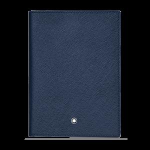 Montblanc Sartorial International Passport Holder Blue Leather 128598 Man Woman Business Travel