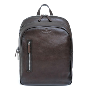 A.G. Spalding Medium Backpack MIDWEST Dark Brown Leather Sfumato Effect