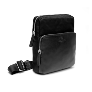 A.G. Spalding Body Bag Metropolitan Borsello Nero Nylon e Pelle donna uomo