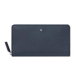 Montblanc Woman wallet 12cc Sartorial Blue Leather zip around 128589 clutch luxury icon