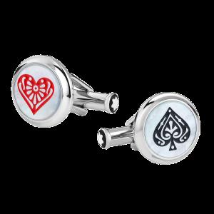 Montblanc man Meisterstuck Cufflinks Tribute Around the World in 80 Days Swords and Hearts 128386 luxury accesories