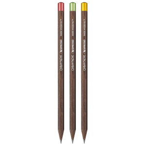 Caran d Ache SWISS Set 3 pencils Wood NESPRESSO Limited Edition 348.100 man woman gift for her him design recycling