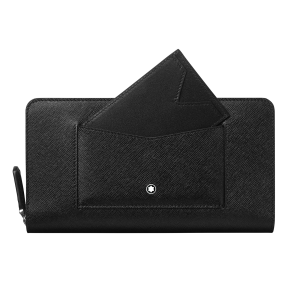 Montblanc Sartorial wallet 12cc with zip and removable credit card holder 128664 man woman