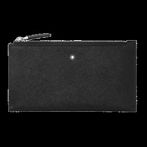 Montblanc Sartorial Mini Pouch Travel document Black leather 128574 man woman passport holder luxury