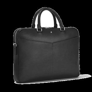 Montblanc Sartorial Bag Document Case Ultra Slim Black Leather 128541 Business man woman luxury work icon