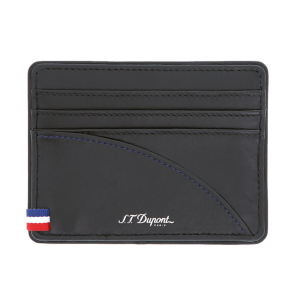S.T. Dupont Defi Millenium Card Holder 6cc Black Leather 172004 man woman