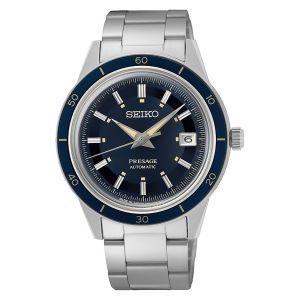 Orologio Seiko Presage Uomo Style anni 60 SRPG05j1 Lunetta Blu Bracciale Acciaio