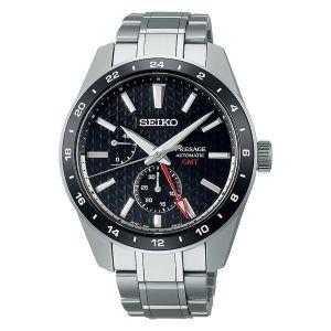 Seiko Orologio Presage Sharp Edged SPB221J1 Automatico GMT riserva di ricarica Uomo icona sportivo