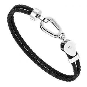 Montblanc Bracelet Wrap Me Leather Steel Medium