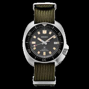 Seiko Prospex Turtle Watch SPB237J1 Captain Willard Green Nylon Strap 200m Diver Apocalypse now double strap
