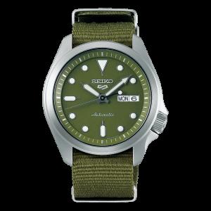 Orologio Seiko 5 Sport SRPE65K1 Military Green Cinturino Nylon
