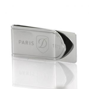 S.T. Dupont Money Clip Blason Inox finish Stainless Steel 003081 Man Woman Luxury accessories Icon Gift Business