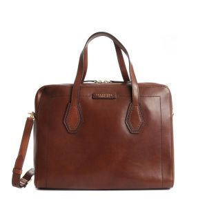 The Bridge Giovanna Briefcase Documents Bag Brown Leather 042298101-14 Man woman italy style collction 2021 fall winter