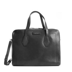The Bridge Giovanna Briefcase Documents Bag Black Leather 04298101-30 Man woman italy style collection 2021 fall winter