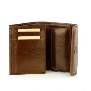 The Bridge Wallet Capalbio Leather Brown with Coin Case 8 cc