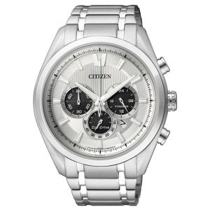 Citizen man Super Titanium Chrono Watch 4010 Silver Dial CA4010-58A