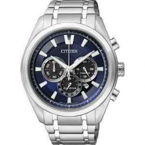 Citizen Man Super Titanium Chrono Watch 4010 Blue Dial CA4010-58L