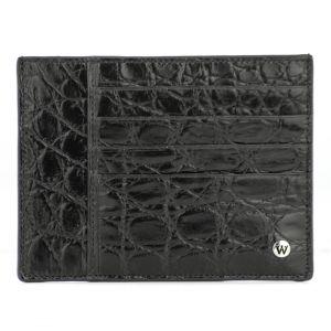Wondersmall WILDSKIN Crocodile Leather Man Credit Card Holder 4 cc