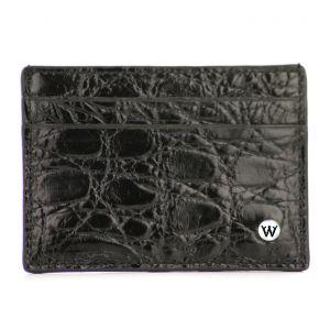 Wondersmall WILDSKIN Crocodile Leather Small Credit Card Holder 4cc