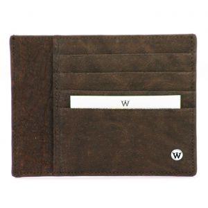 Wondersmall WILDSKIN Elephant Leather Credit Card Holder 4 cc brown