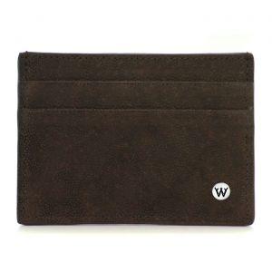 Wondersmall WILDSKIN Elephant Leather Small Credit Card Holder 4cc brown