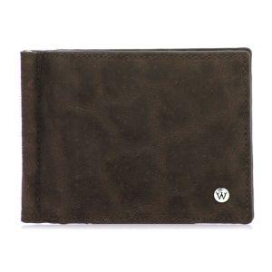 Wondersmall WILDSKIN Elephant Leather Wallet with Money Clip 6cc