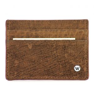 Wondersmall WILDSKIN Hippopotamus Leather Small Credit Card Holder 4cc man