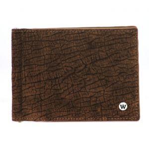 Wondersmall WILDSKIN Hippopotamus Leather Wallet with Money Clip 6cc man