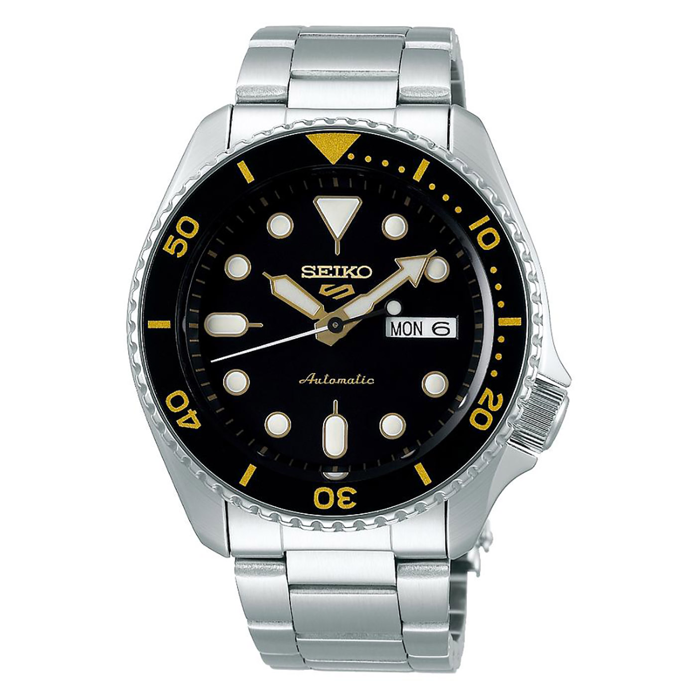 watch 5 sport automatic black yellow dial